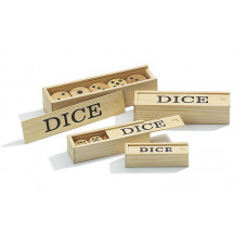 Wooden Dice  in box 25 mm