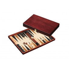 Wooden backgammon set M in Cassette design Naxos (1112)