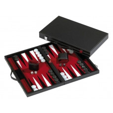 Backgammonbräde Standard i rött L
