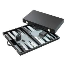 Backgammonbräde Standard i grått L