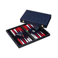 Backgammonbräde Classic i blått M