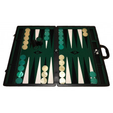 Backgammon board XXL Popular Green 50 mm Stones