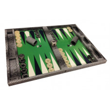 Backgammon Board Mr Stylish Snake in Gray XL