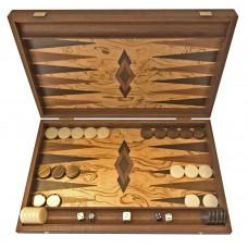 Backgammon i oliv-trä Akrathi L