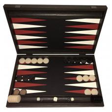 Backgammon Set in Wood & Leatherette Strogyli L