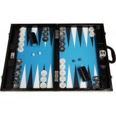 Backgammon-set Proffs XL Wycliffe Brothers i svart