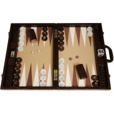 Backgammon-set Proffs XL Wycliffe Brothers i brunt
