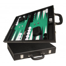 Silverman & Co Favour M Backgammon set in Black