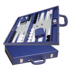 Silverman & Co Favour M Backgammon set in Blue