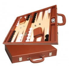 Silverman & Co Favour M Backgammon set in Brown
