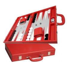 Silverman & Co Favour M Backgammon set in Red