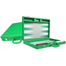 Silverman & Co Premium L Backgammon set in Green