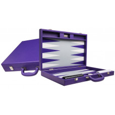 Silverman & Co Premium L Backgammon set in Purple