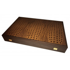 Backgammon Board of Leather & Wood Grambousa L