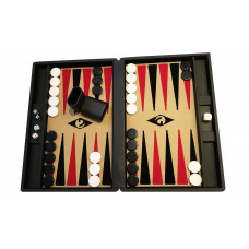 Backgammon-spel M i Svart-be-sv-rö Popular Bg-pjäser 36 mm