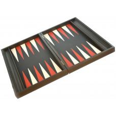 Backgammon i trä och läder Nikouria L