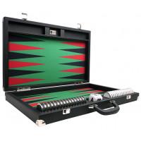 Backgammon Board XXL Wycliffe Brothers Prestige Black Briefcase Green Field