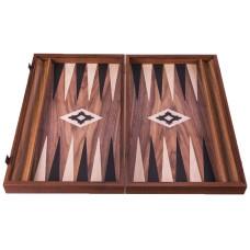 Backgammon komplett set i valnötsträ Poseidon L