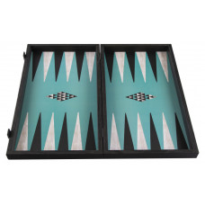 Backgammon komplett set i trä Geometric L