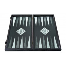 Backgammon komplett set i trä Craneo L