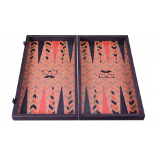 Backgammon komplett set i trä Hipster L
