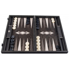 Backgammon komplett set i ask-trä Odysseus L