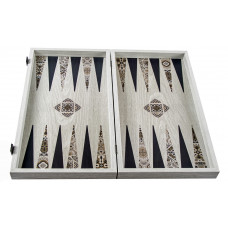 Backgammon Board in Wood Mosaic L