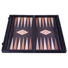 Backgammon komplett set i wengeträ Hefaistos L