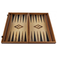 Backgammon komplett set i valnötsträ Apollon L