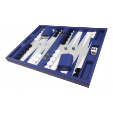 Silverman & Co Smooth  Backgammon in Blue