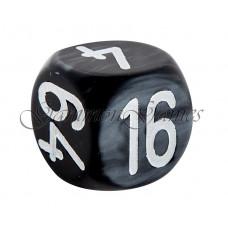 Backgammon-kub Hantverk i grått 30 mm