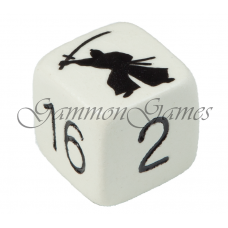 "Backgammon dubblerings-kub 30 mm ""Samurai Warrior"""
