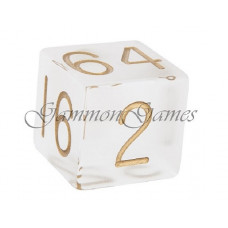 Backgammon Doubling Cube Frosted Plexiglass 30 mm