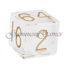 Backgammon Doubling Cube Frosted Plexiglass 36 mm