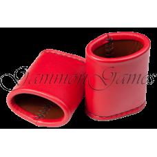 Handgjorda tärningskoppar oval i äkta läder