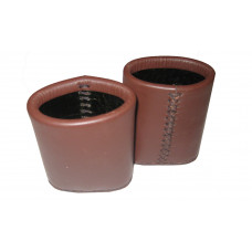 Leather Dice Cups Oval in Brown