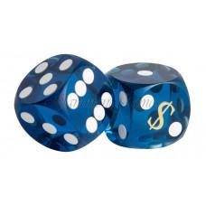 Las Vegas Backgammon precision dice in blue 14 mm