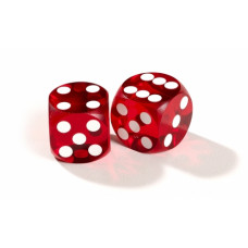 Official backgammon precision dice 13 mm Red