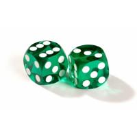 Officiella backgammon precisionstärningar 13 mm gröna