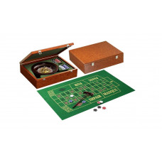 Complete Roulette set made of wood Classic design