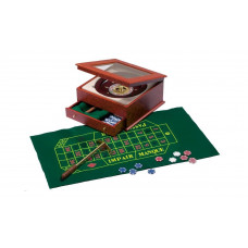 Complete Roulette set made of wood and plexiglass Exclusive
