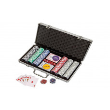 Complete poker set in aluminium case Standard