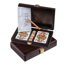 Playing Cards & Yatzy in wooden box