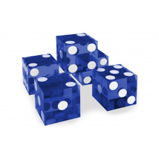 Casino Precision Dice Serial Numbered Set of 5 in Blue
