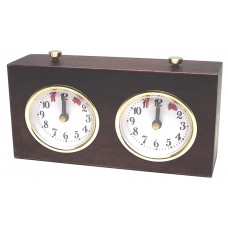 Chess clock BHB mechanical wooden case in brown