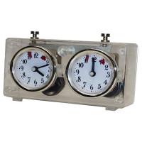 Schackklocka BHB, mekanisk ur i transparent plast