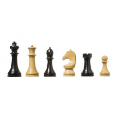 Official FIDE Chess e-pieces Wooden in Black & Natural
