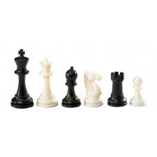Chessmen plastic Nerva in Black and White KH 95 mm