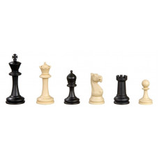 Chessmen plastic Nerva in Black and Ivory KH 95 mm