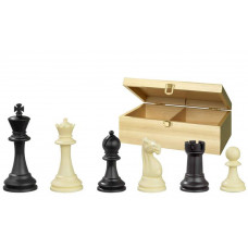 Chessmen plastic Nerva Box in Black and Ivory KH 95 mm